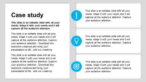Simple case study powerpoint template