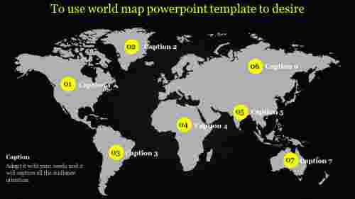 world map powerpoint template with dark background