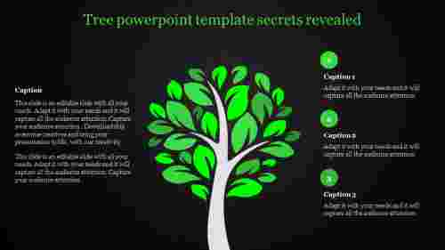 tree powerpoint template with green themed