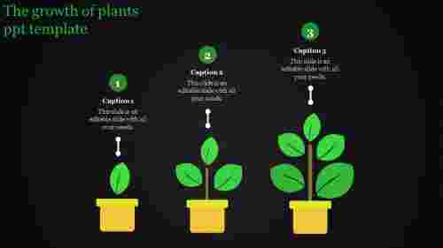 plant ppt template-The growth of plants ppt template
