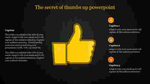 thumbs up powerpoint-The secret of thumbs up powerpoint