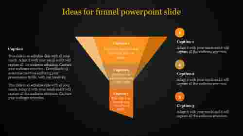 Funnel Powerpoint Slide with dark background