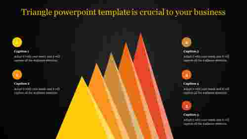 triangle powerpoint template in ascending order