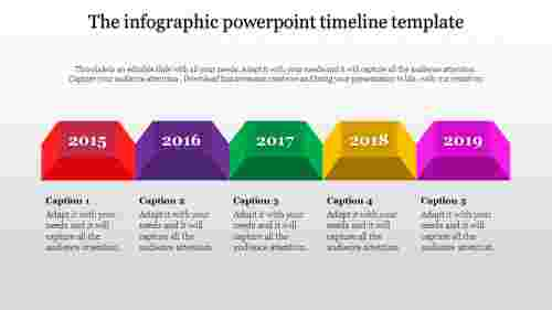 powerpoint timeline template with different shapes