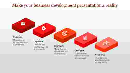 business development presentation with 3d shapes