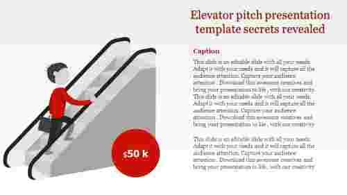 Elevator pitch presentation template - Vertical model