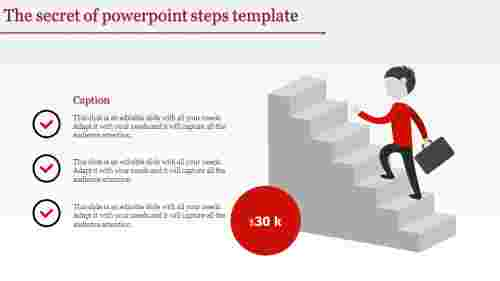 Staircase model PowerPoint steps template