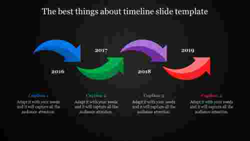 simple timeline slide template