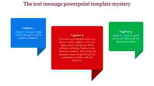 Rectangle model text message PowerPoint template