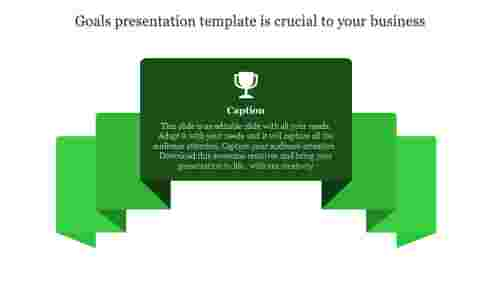 Goals presentation template: Your key to success