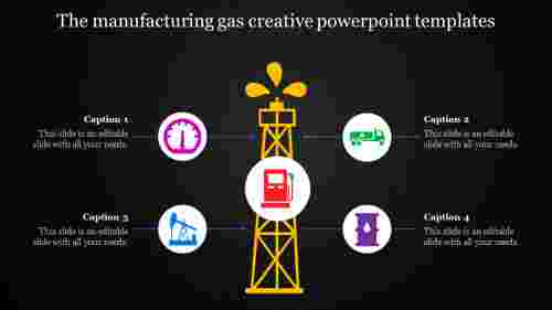 creative powerpoint templates-The manufacturing gas creative powerpoint templates