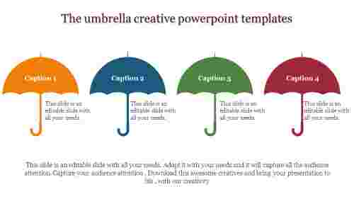 creative powerpoint templates - Umbrella model