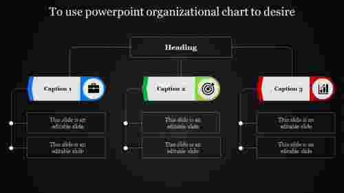 powerpoint organizational chart with black background