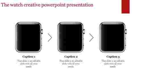 creative powerpoint presentation - Watch model