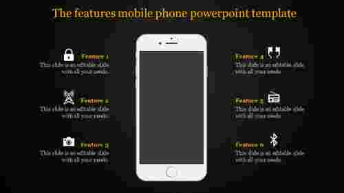 mobile phone powerpoint template with techniques