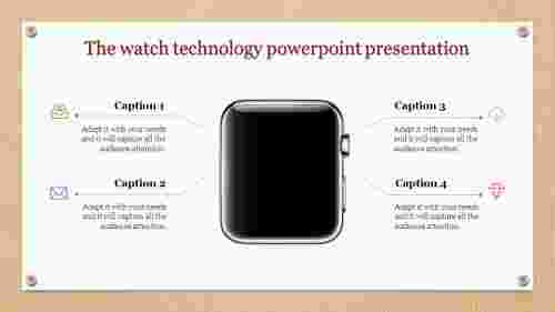 Watch model technology powerpoint presentation