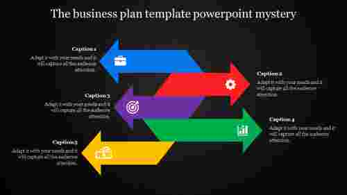 five arrows business plan template powerpoint - multi color