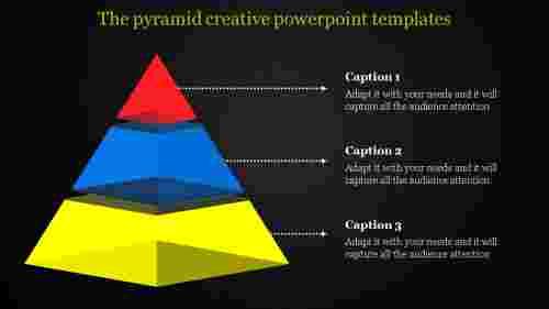 creative powerpoint templates-segmented pyramid model
