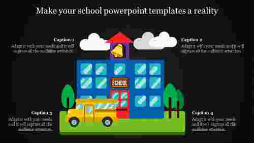 school powerpoint templates - dark background