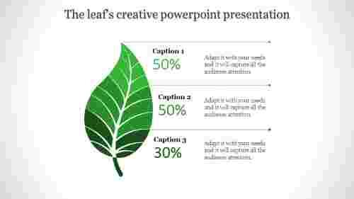 creative powerpoint presentation - single leaf