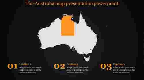 map presentation powerpoint-The Australia map presentation powerpoint