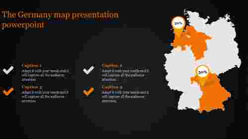map presentation powerpoint-The Germany map presentation powerpoint