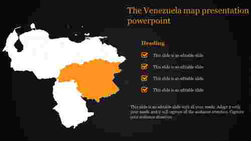 Venezuela map presentation powerpoint