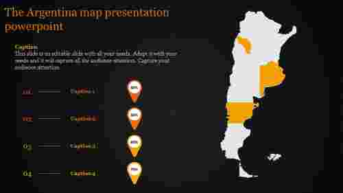 argentina map presentation powerpoint