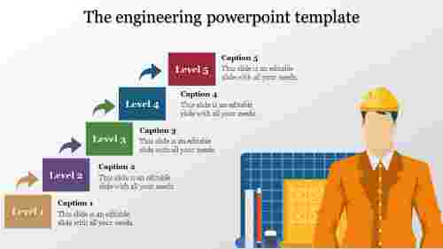 engineering powerpoint template - stage five
