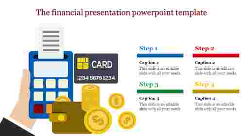 financial presentation powerpoint template - swiping machine