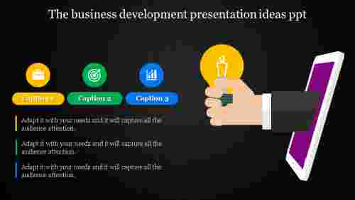 business development presentation ideas with bulb model