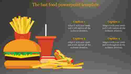 excellent  food powerpoint template