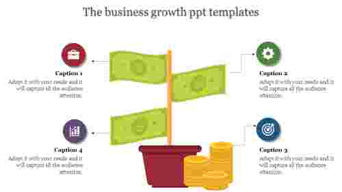 business growth powerpoint templates - profit