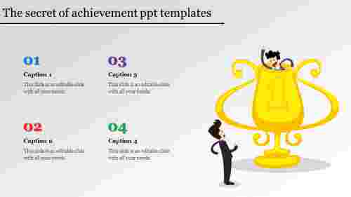 achievement ppt templates-The secret of achievement ppt templates