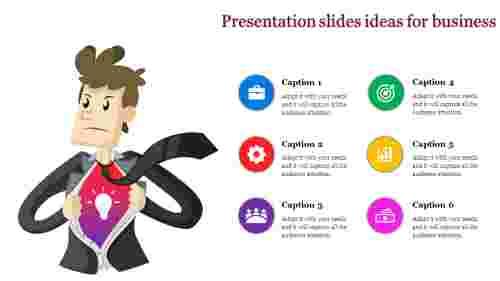 presentation slides ideas with human image