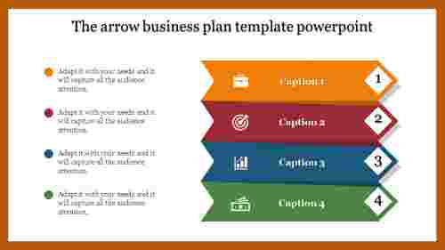 Arrows business plan template powerpoint