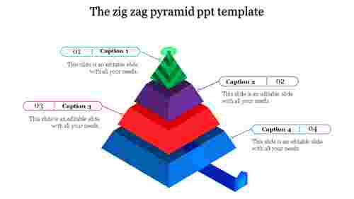 Zigzag pyramid PPT template