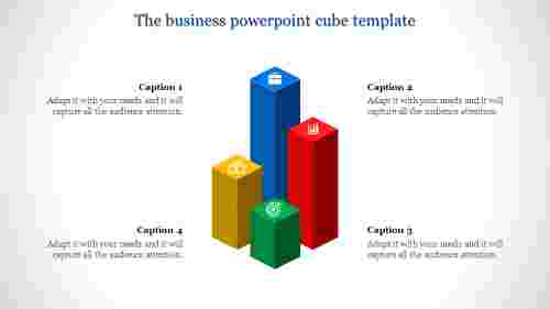 Bar model powerpoint cube template