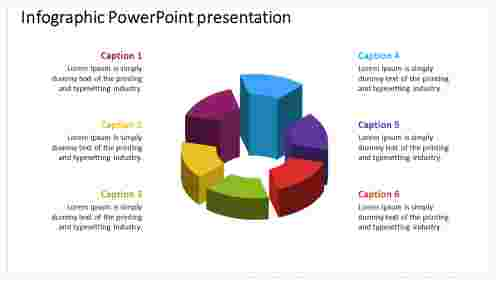 infographic powerpoint presentation with multicolored