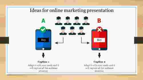 online marketing presentation of comparison