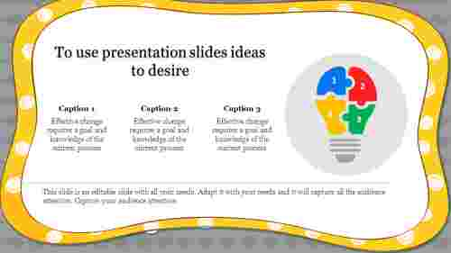 presentation slides ideas with corner designed
