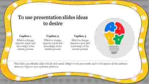 presentation slides ideas with corner designed