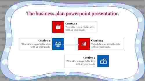 business plan powerpoint presentation with designed corners