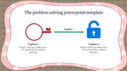 Problem solving powerpoint template-Lock and key diagrams