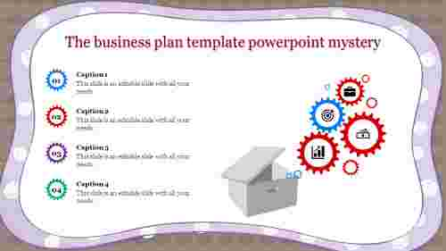 business plan template powerpoint with box
