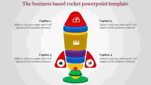 Toy type rocket powerpoint template