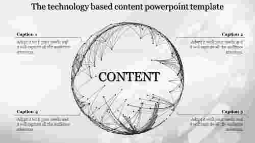 Spherical shaped content powerpoint template