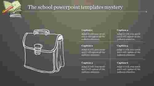 school powerpoint templates with bag design