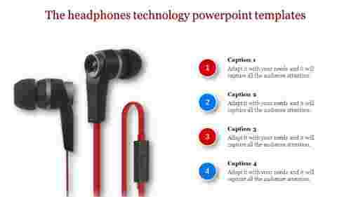 technology powerpoint templates - Headset image