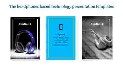 Technology presentation templates based headphones